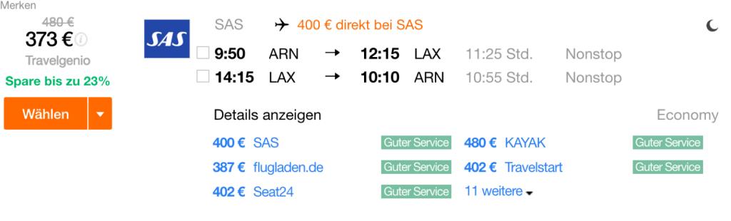 InsideDeals SAS nach Los Angeles