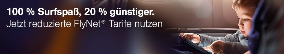 Lufthansa FlyNet um 20 Prozent günstiger