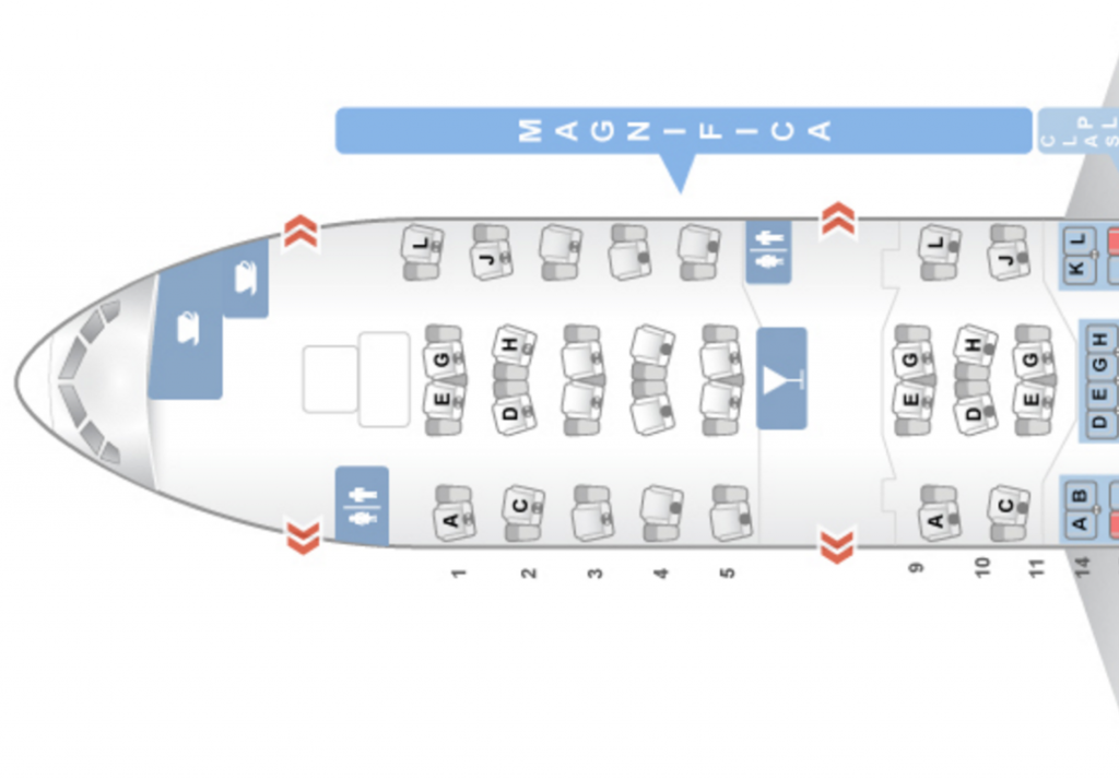 Alitalia Business Class Seatmap