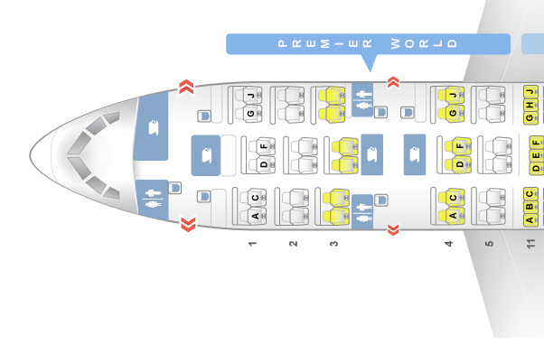 Oman Air 787 Business Class - Seat map (ex Kenya Airways aircraft)