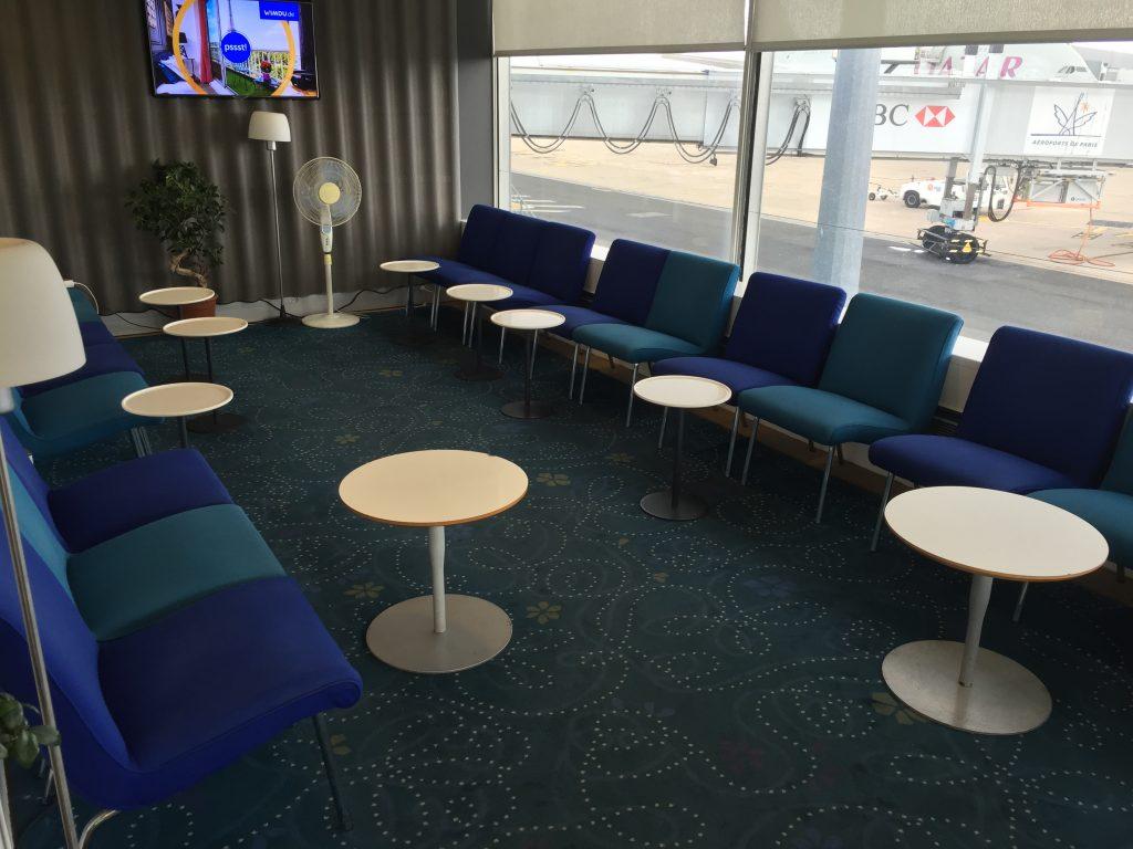 SAS Lounge Paris - Fernsehecke