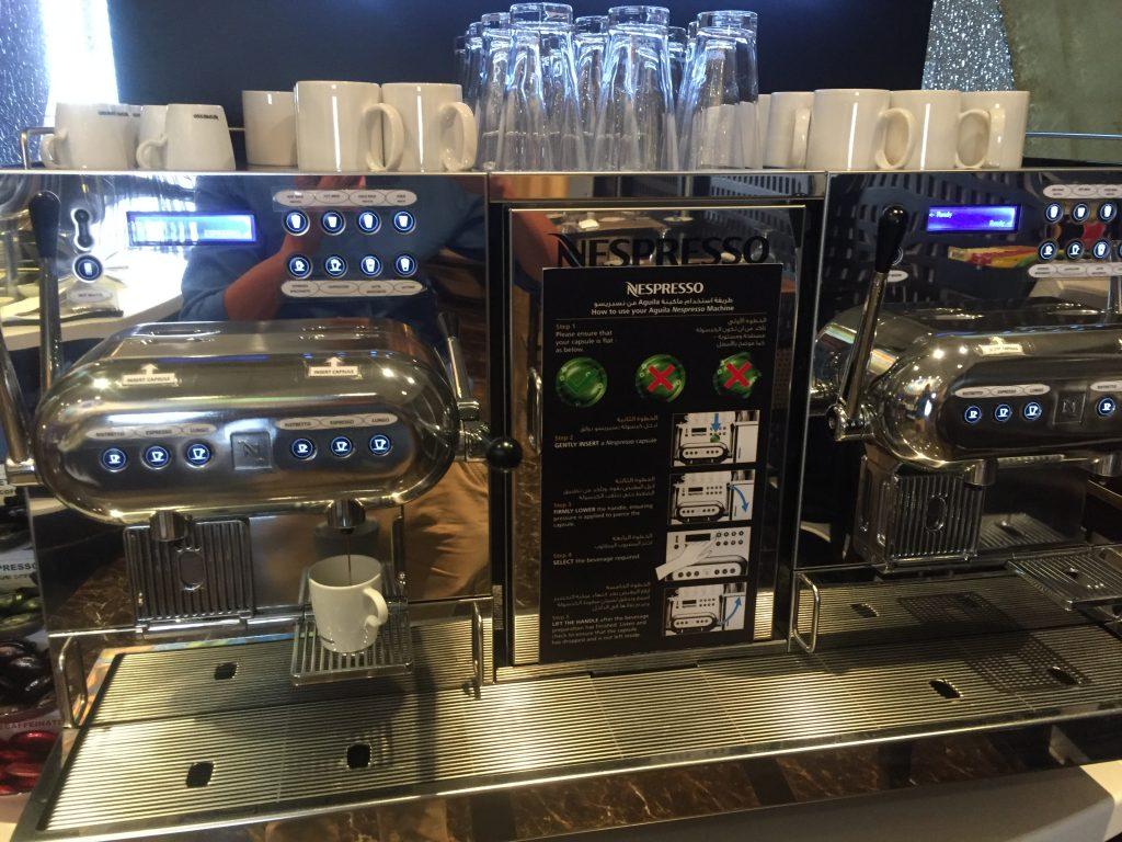 Oman Air Lounge Muscat - Nespresso - Kaffemaschine