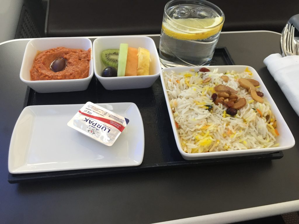 Oman Air Business Class - Catering