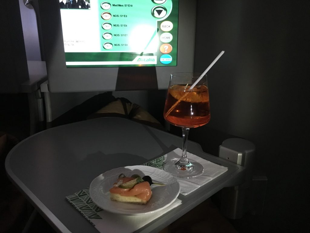 Alitalia Business Class Aperol Spritz
