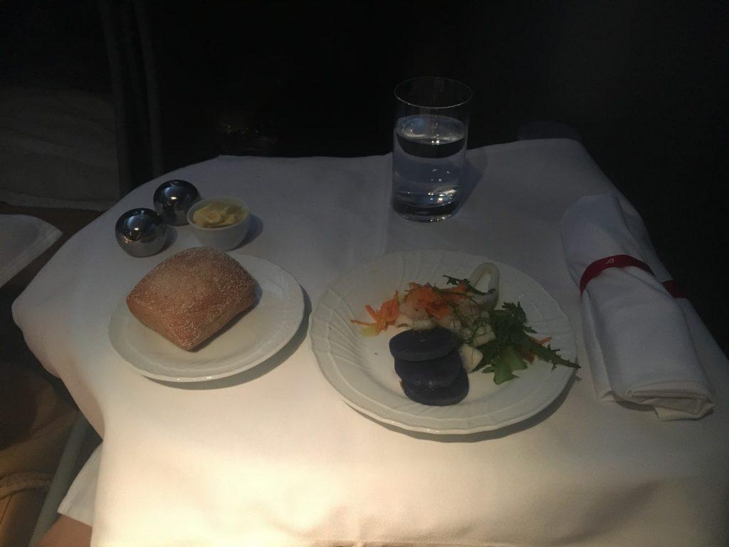 Alitalia Business Class Vorspeise
