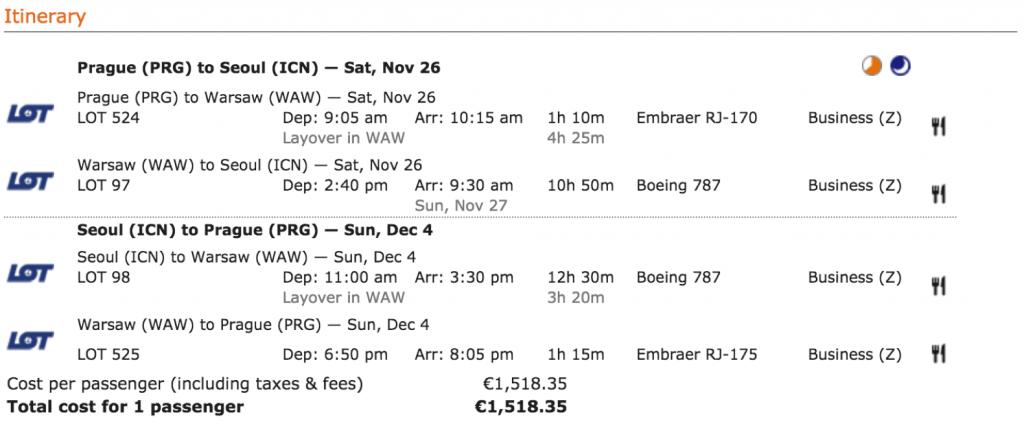 Lufthansa Statusmeilen nach Seoul sammeln