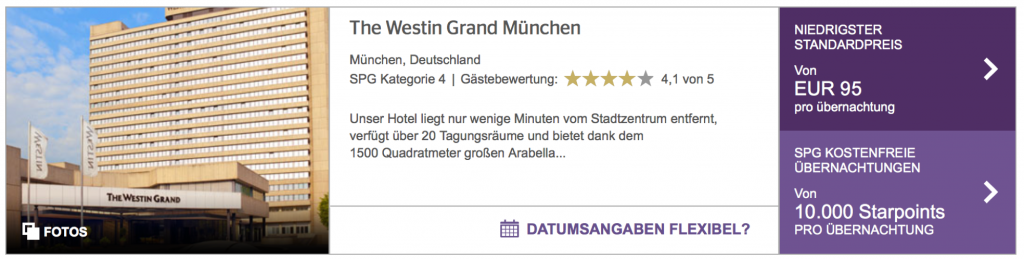 SPG Limited Time Sale Westin München