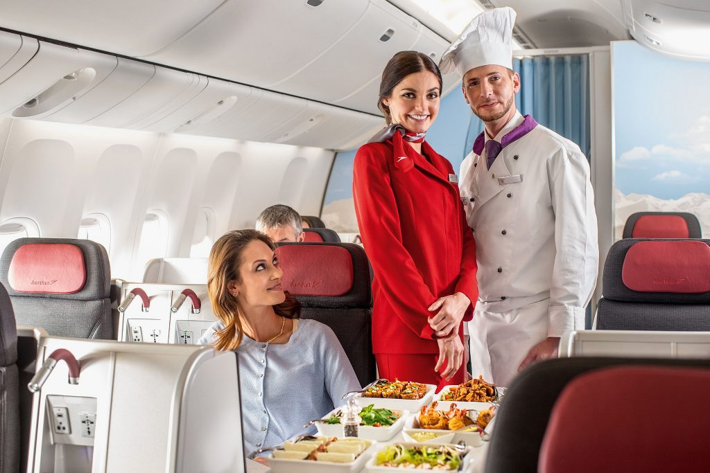 Austrian Airlines Business Class nach Asien