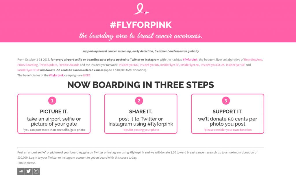 Fly for Pink - So geht die Teilnahme