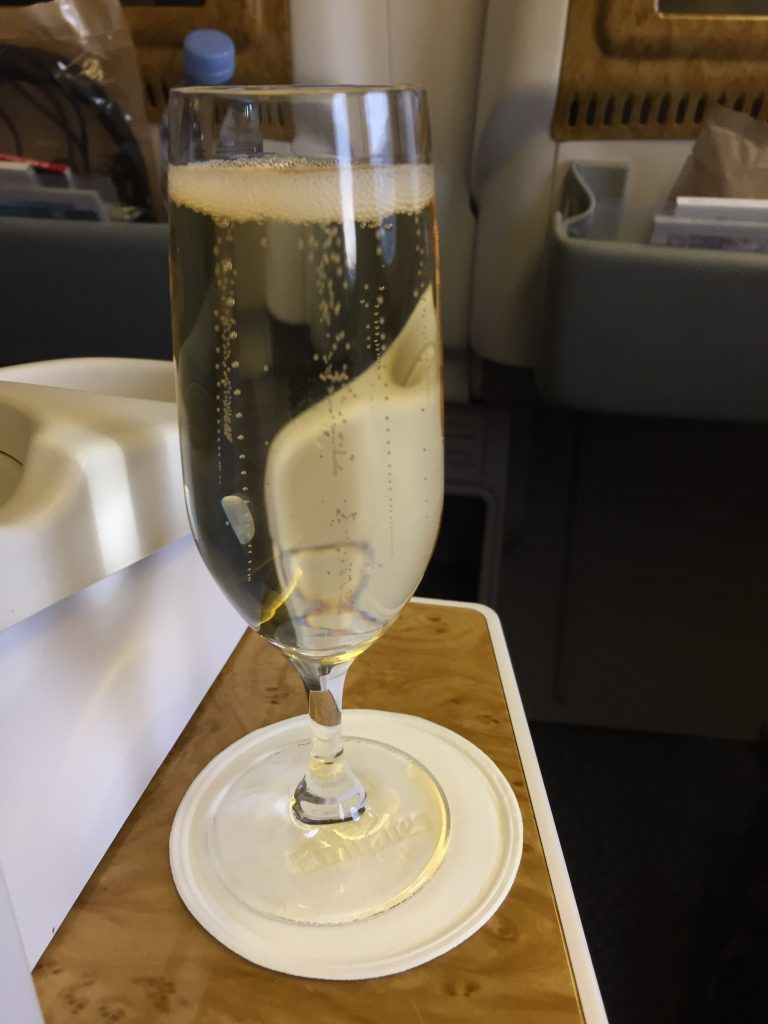 Emirates Business Class - Welcome Drink