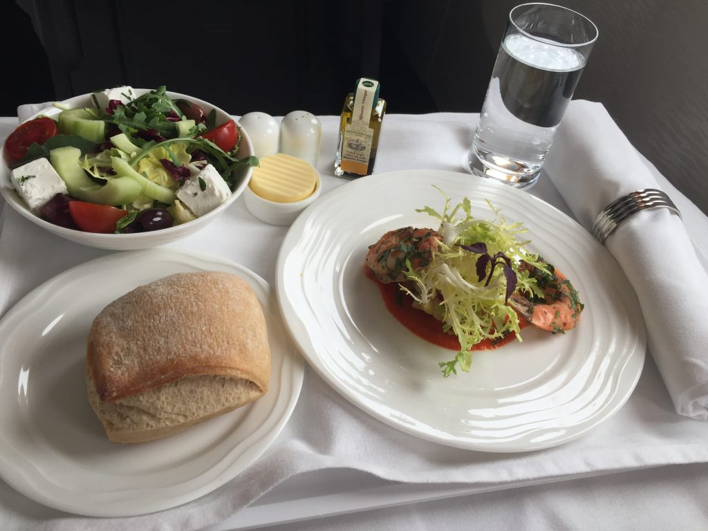 Emirates Business Class Lunch