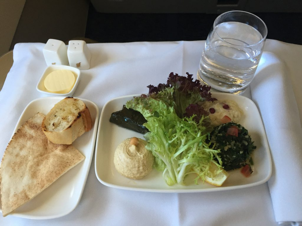 Gulf Air Business Class Catering Arabic Mezze