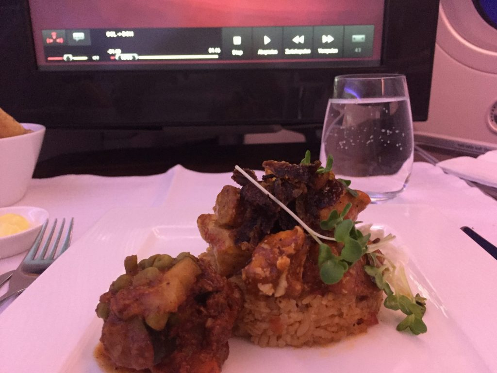 Qatar Airways Business Class- Hauptgericht