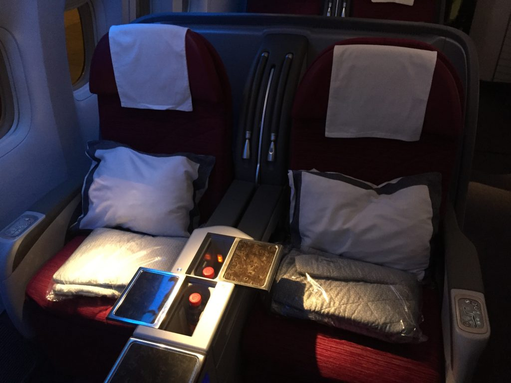 Qatar Airways Business Class - Sitzanordnung