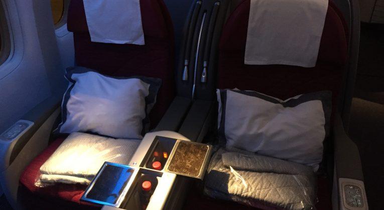 Qatar Airways Business Class - Sitzanordnung