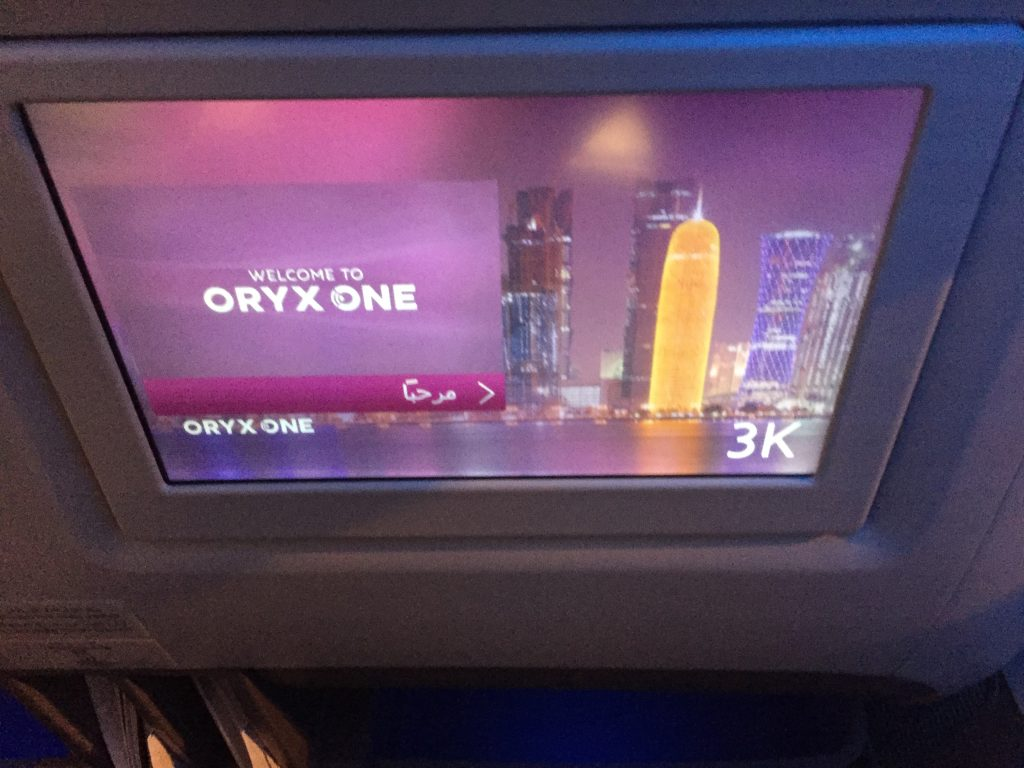 Qatar Airways Business Class Boeing 777 - Entertainment