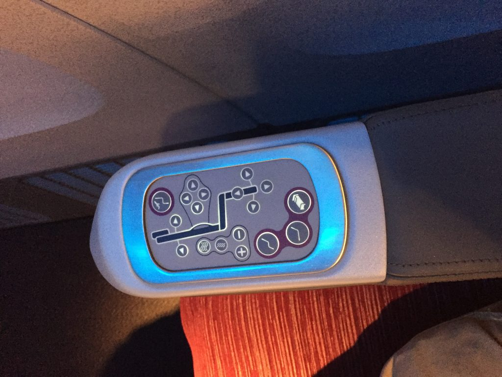 Qatar Airways Business Class - verschiedene Sitzeinstellungen