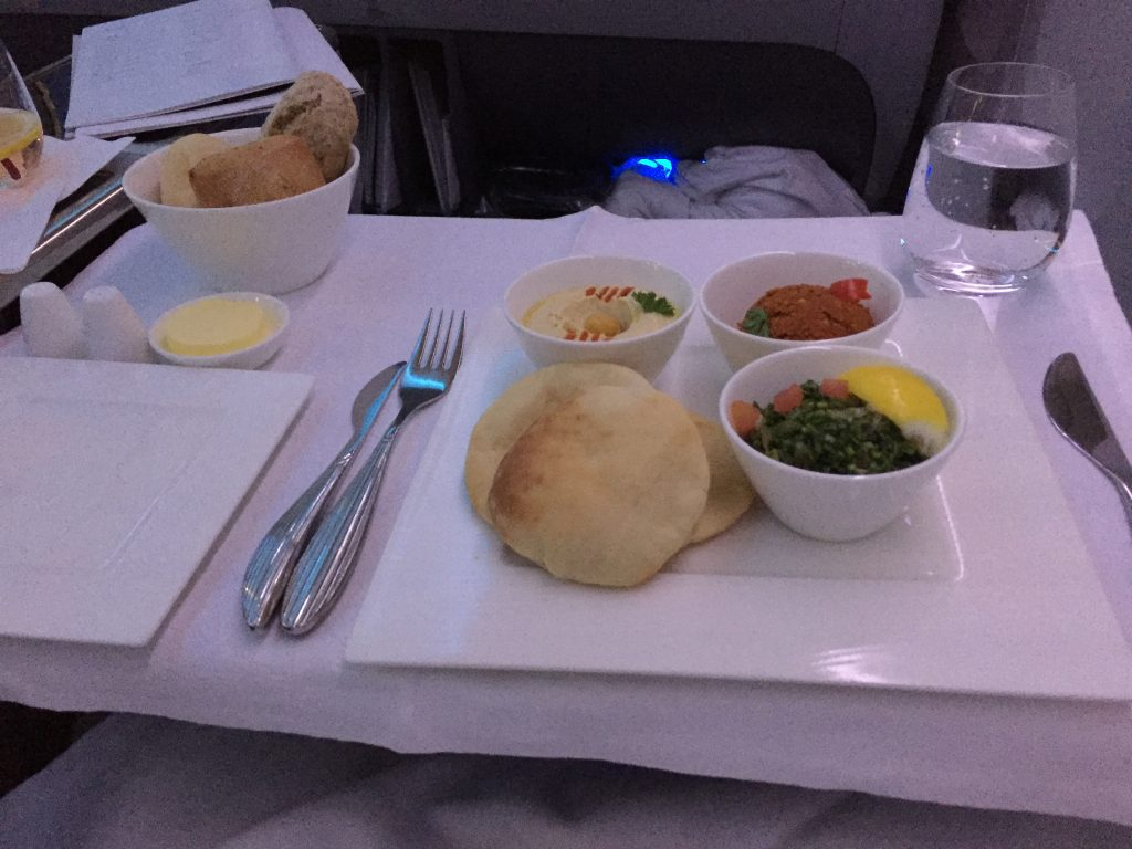 Qatar Airways Business Class - arabic mezze