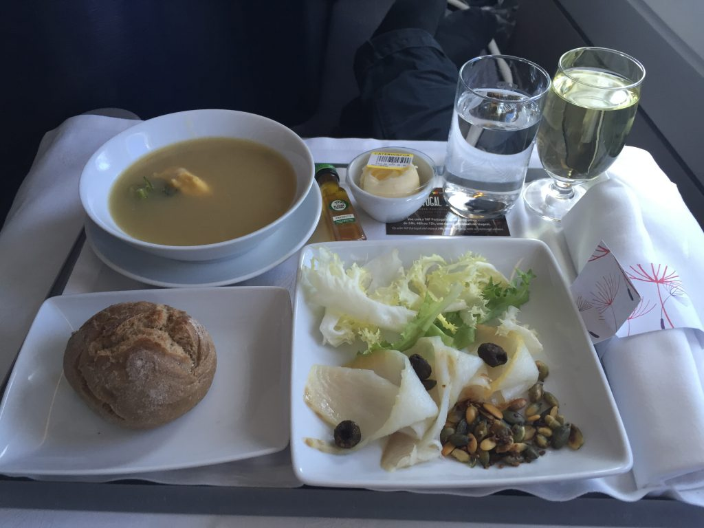 TAP Portugal Business Class Catering