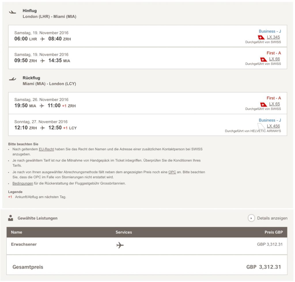 Lufthansa Statusmeilen mit SWISS sammeln