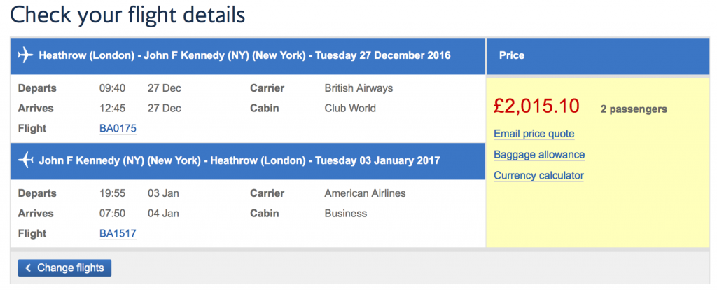 British Airways Black Friday Sale