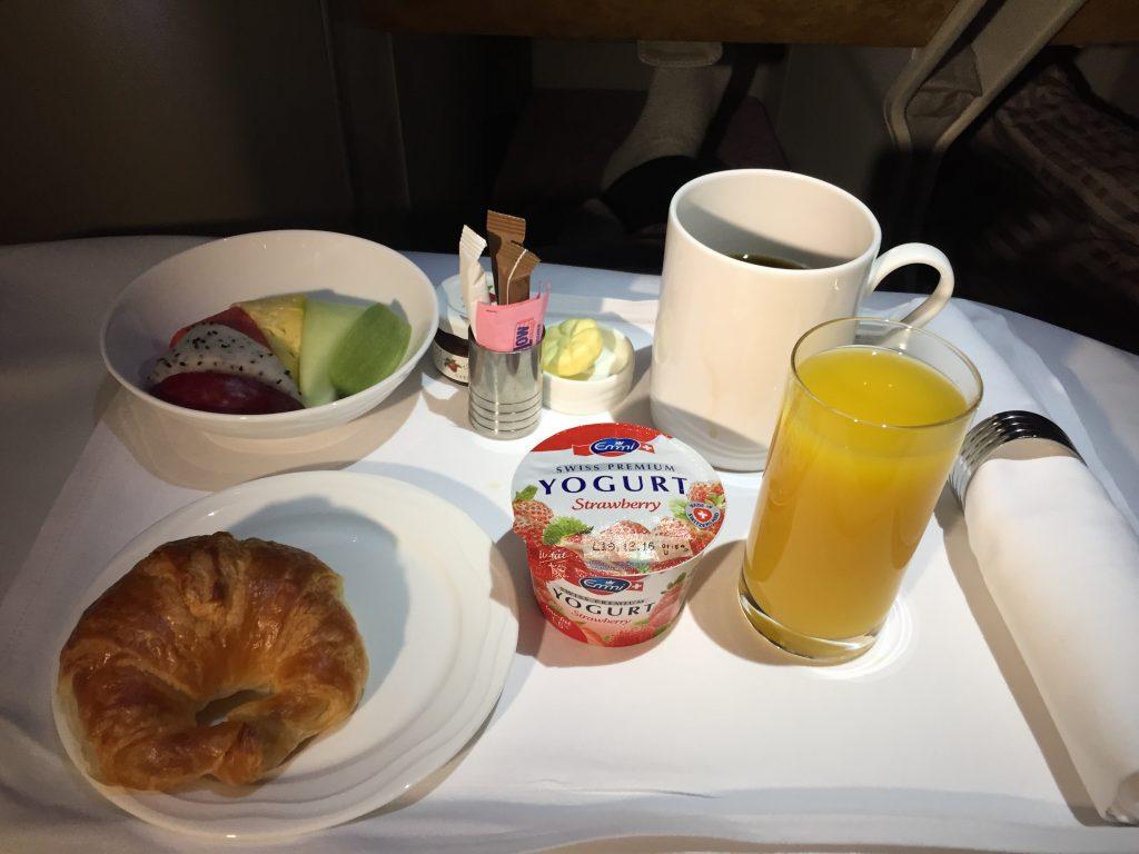 Emirates Business Class Breakfast