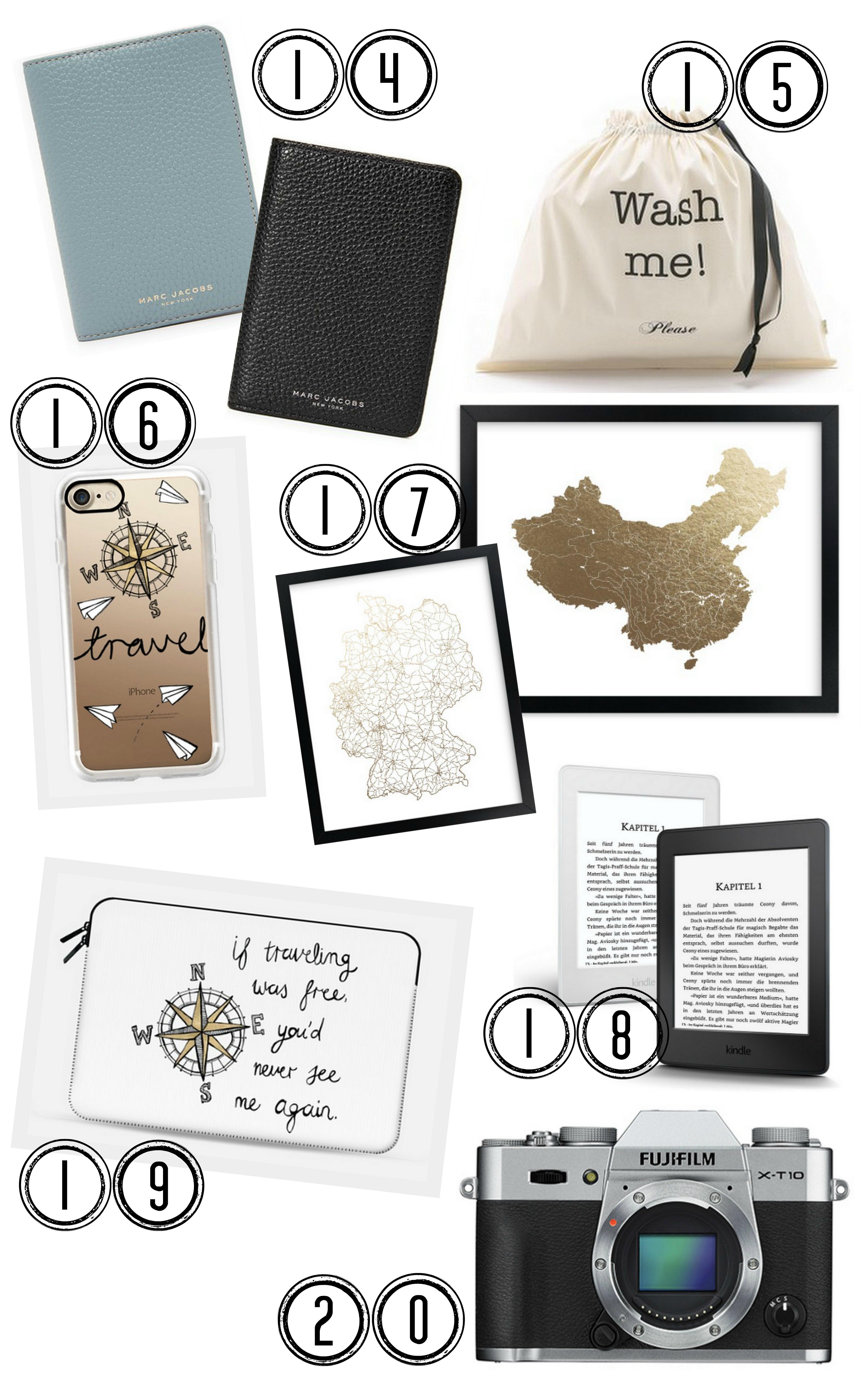 Weihnachtsgeschenke für Reisende