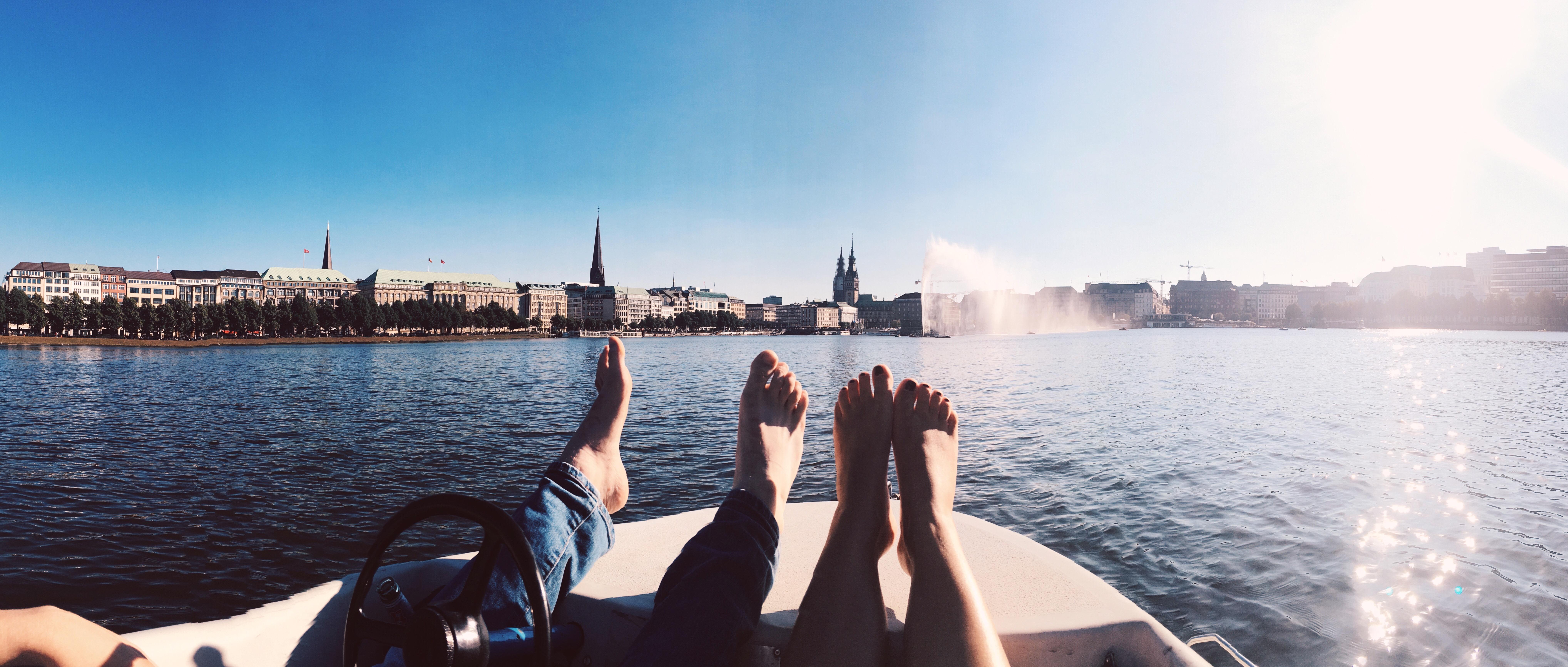 Ein perfekter Tag in Hamburg Außenalster