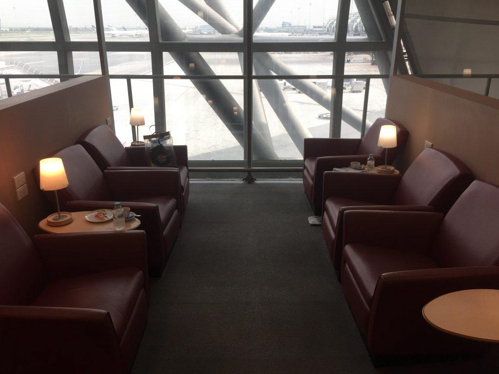 Air France Lounge Bangkok Sitze