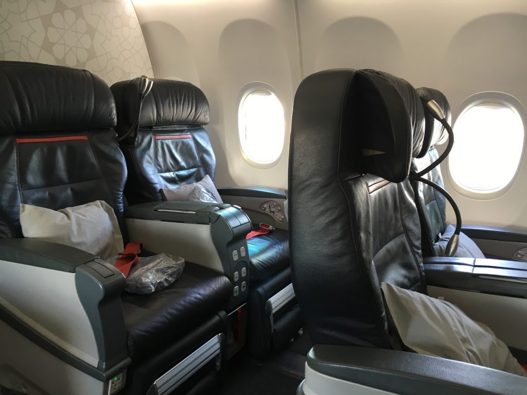 Turkish Airlines European Business Class Sitz