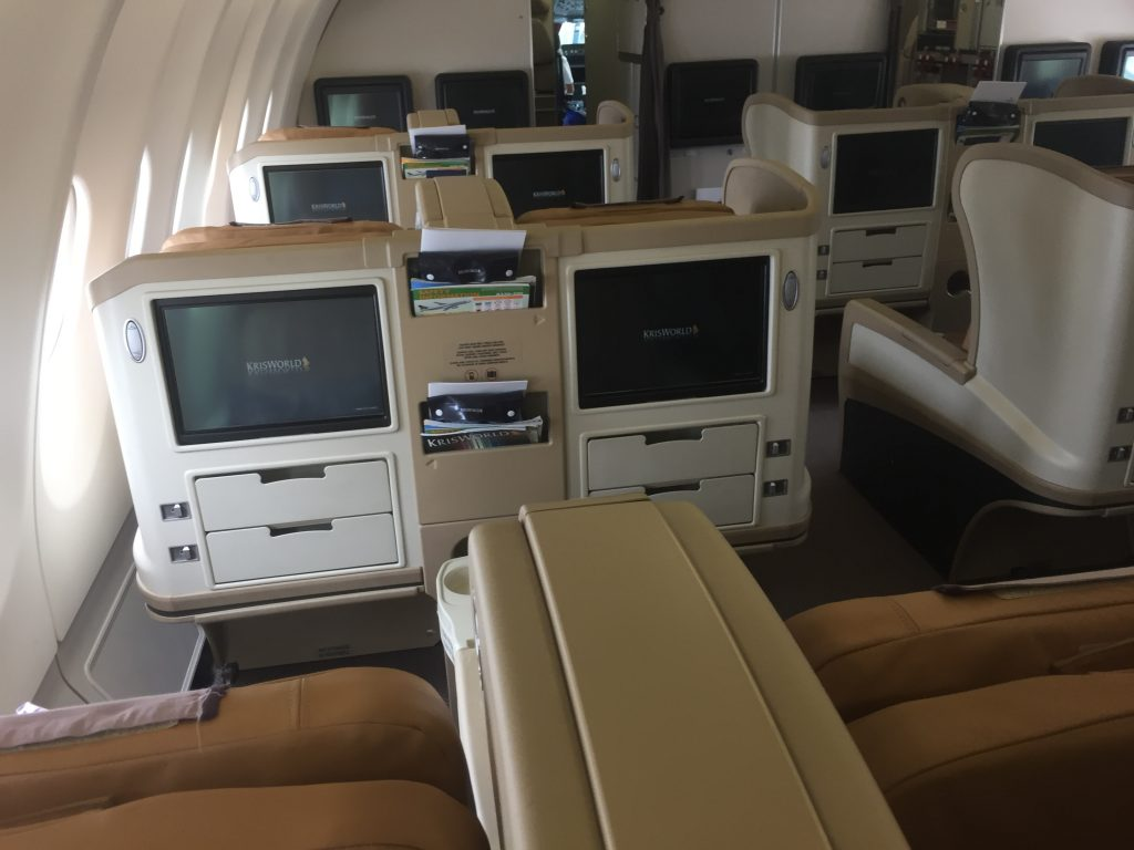 Singapore Airlines Regional Business Class - Kabine