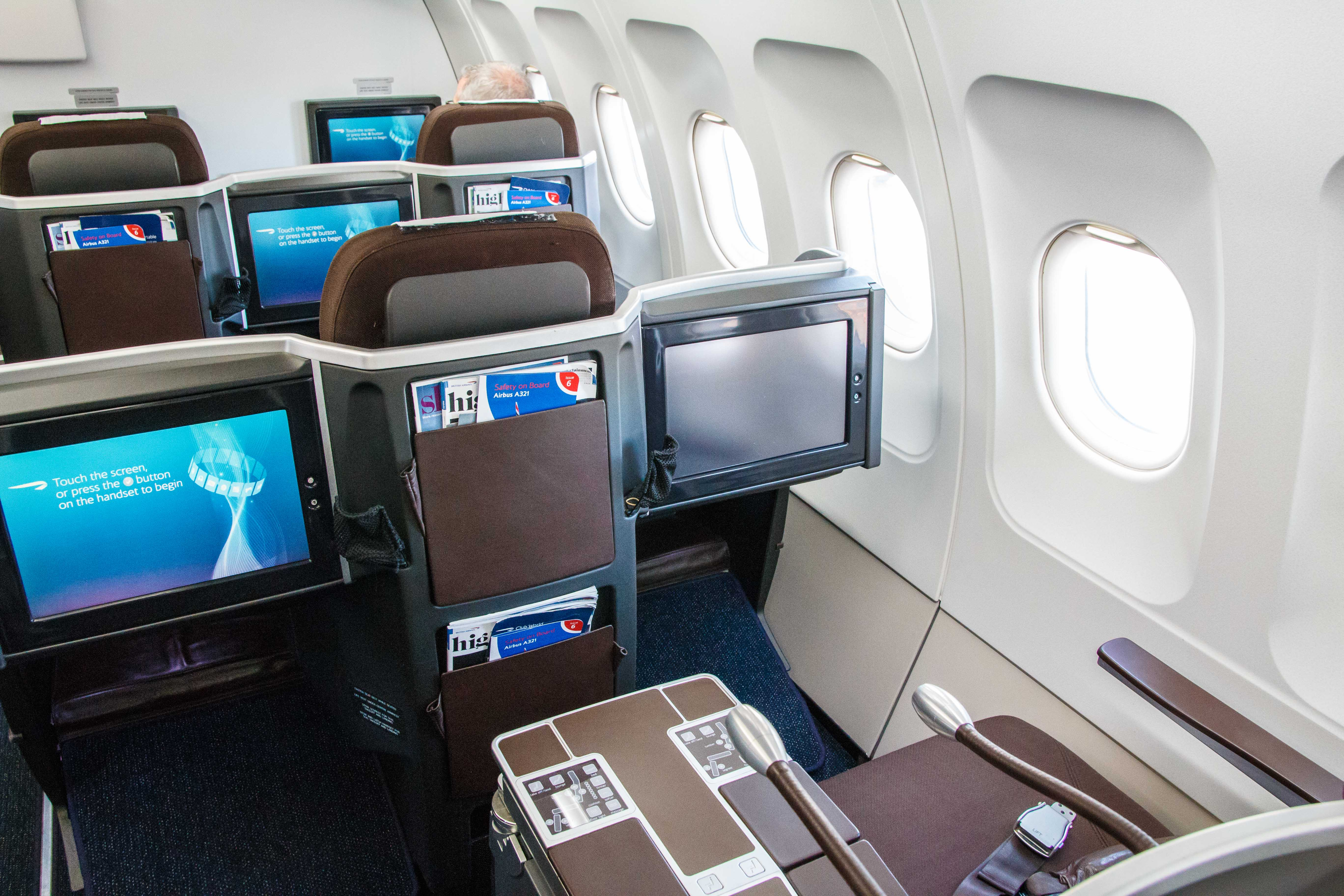 British Airways Business Class A321 Sitz