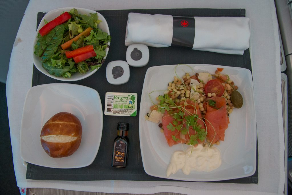 Air Canada Business Class Vorspeise