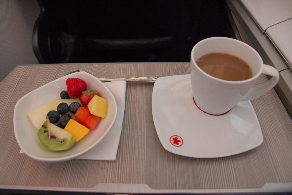 Air Canada Business Class Dessert