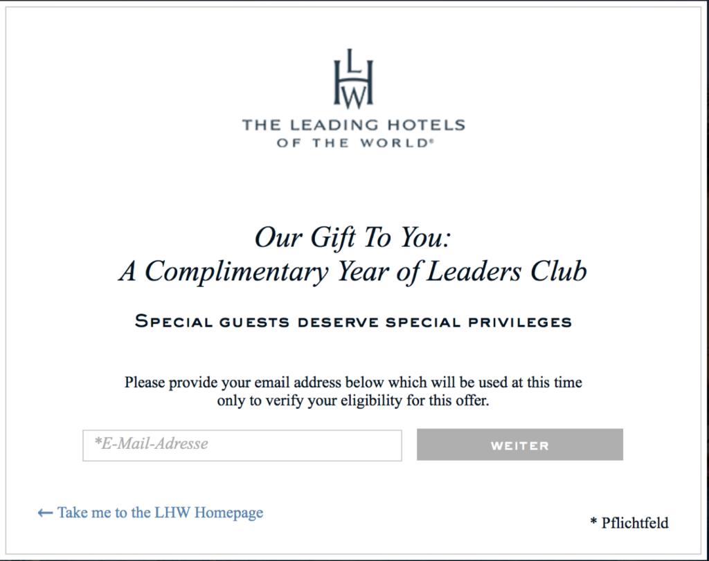 Leaders Club Status kostenlos