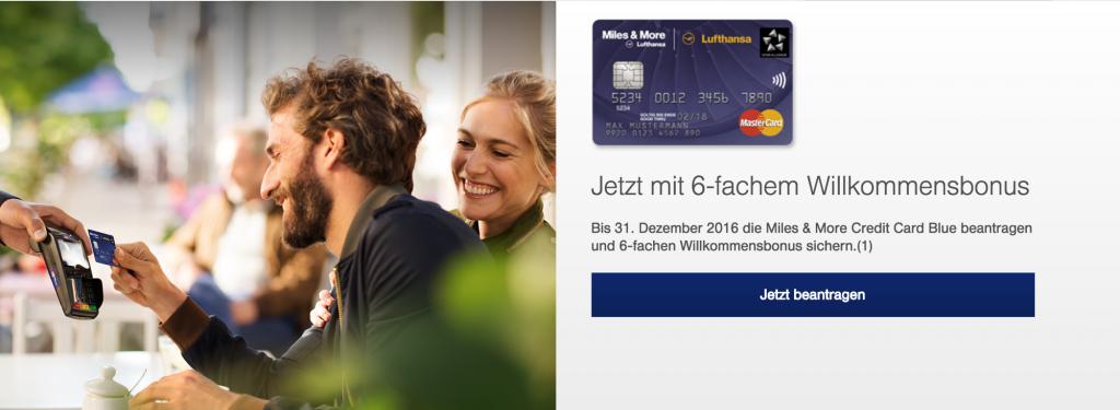 6.000 Miles and More Meilen mit der Kreditkarte sammeln