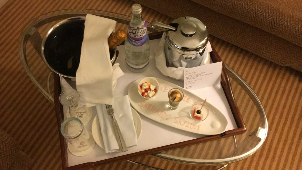 Sheraton Skyline London Welcome Treatment