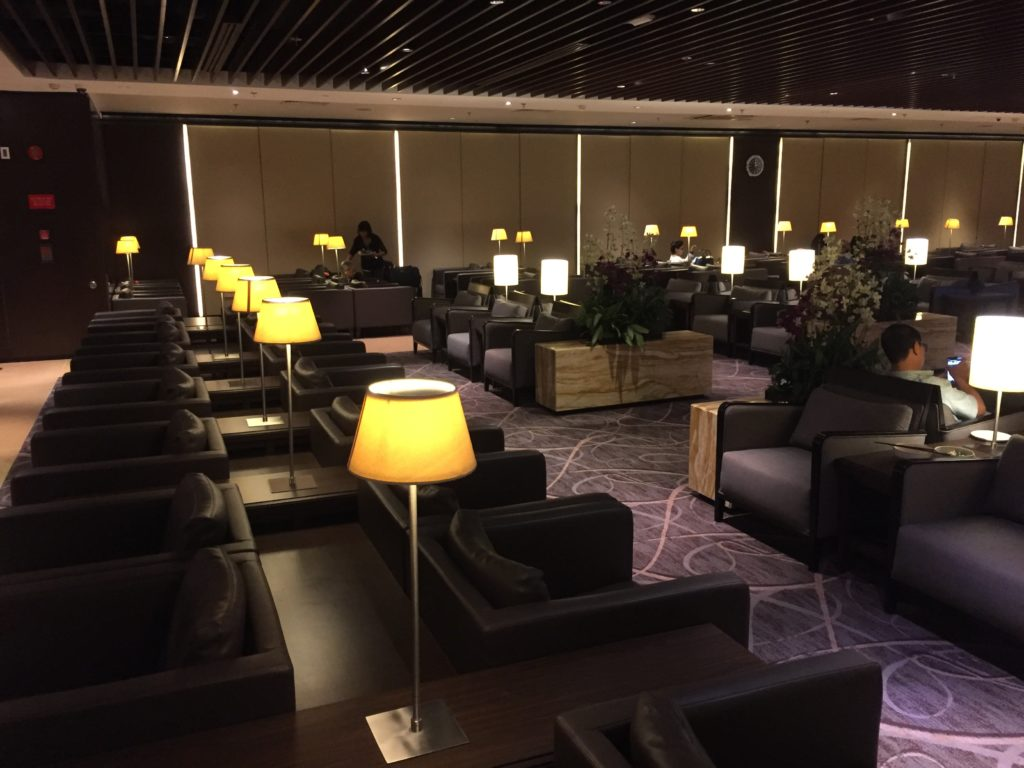 Singapore Airlines Silverkris Lounge Singapore Sessel