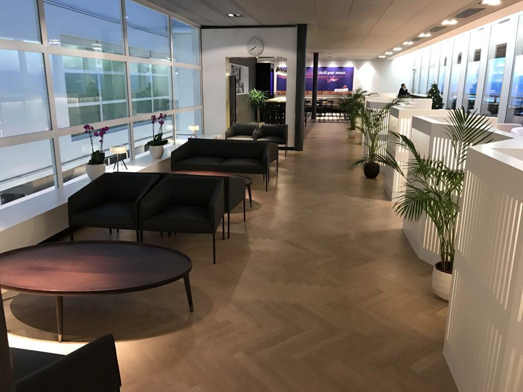 Aspire Lounge Zürich Sitzbereich