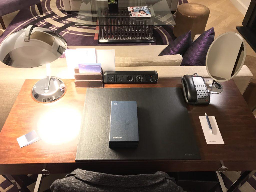 Sheraton Grand London Park Lane Park Suite Schreibtisch