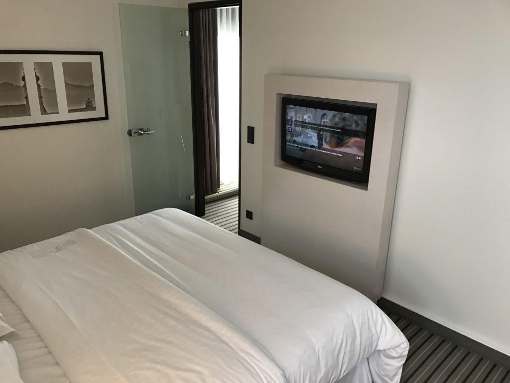 Sheraton München Arabellapark Executive Suite Schlafzimmer