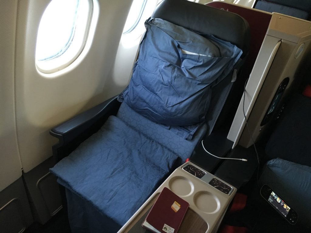 Turkish Airlines Business Class Bett