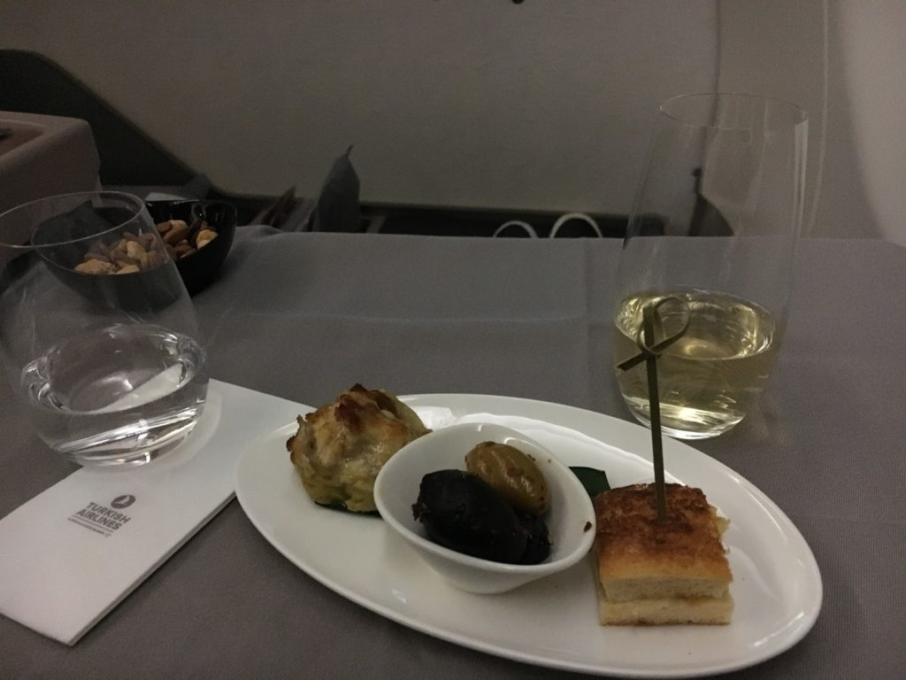 Turkish Airlines Business Class Gruß aus der Küche
