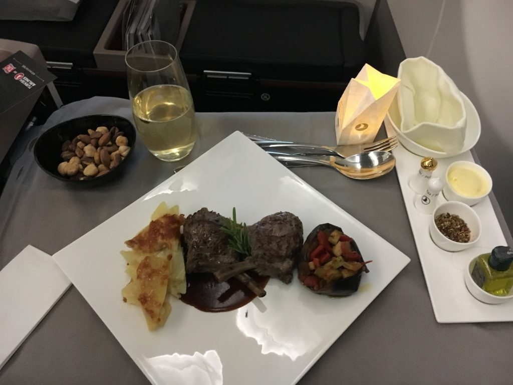 Turkish Airlines Business Class Hauptgericht
