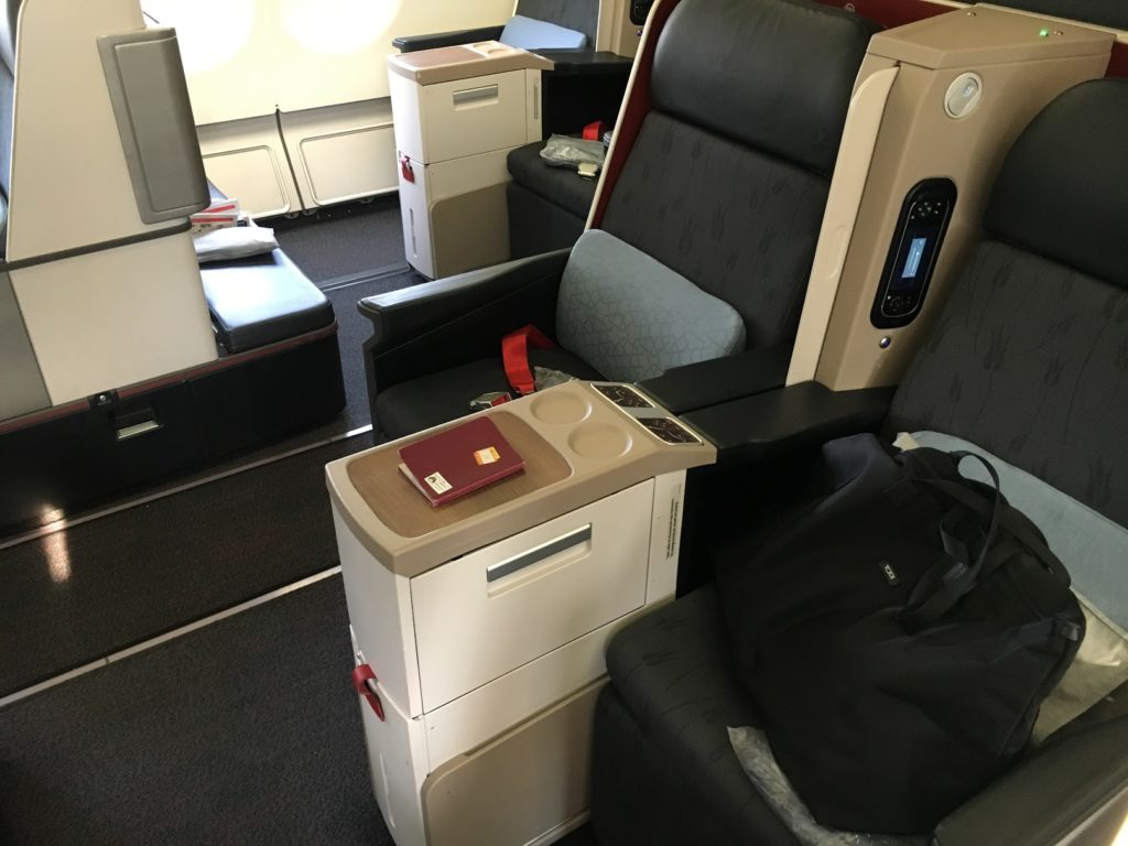 Turkish Airlines Business Class Sitz