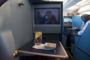 airberlin Business Class Aperitif und Nüsse