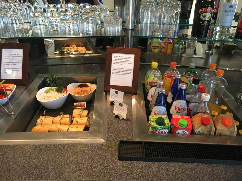 Lufthansa Lounge Athen Softdrinks