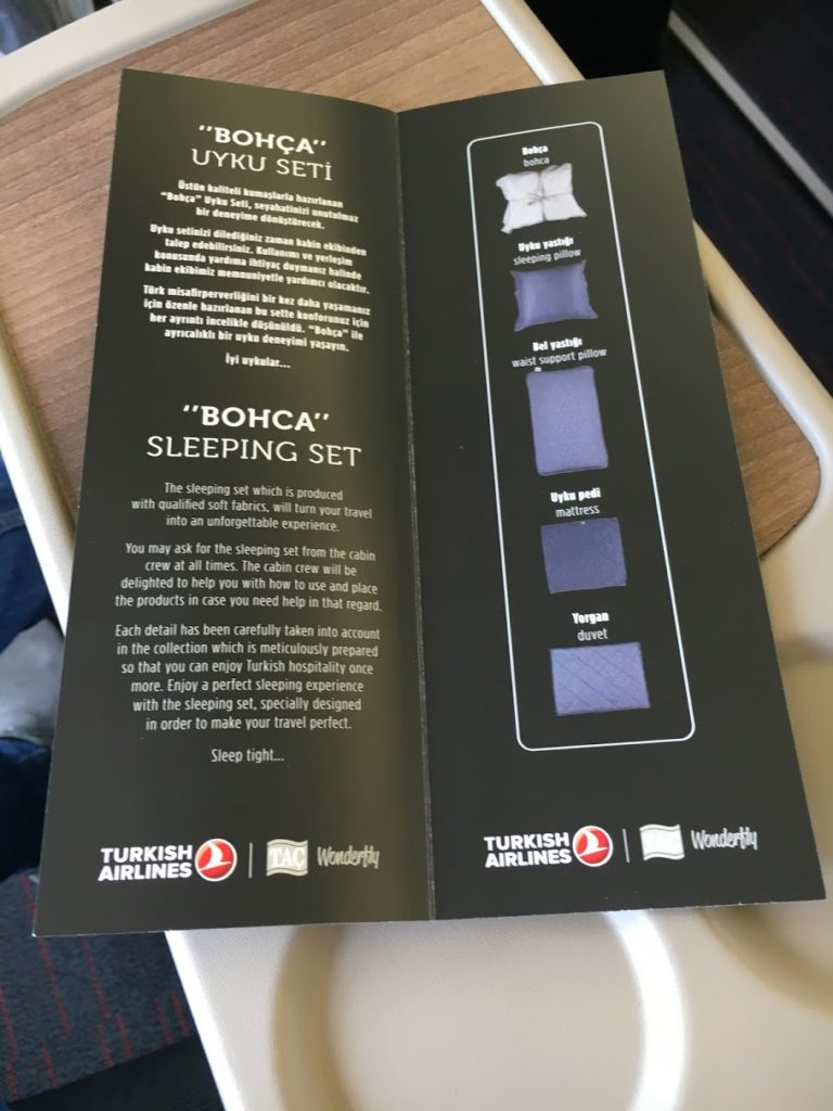 Turkish Airlines Business Class A330 Turn Down Service