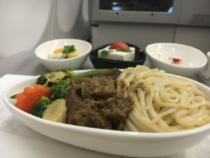 Turkish Airlines Business Class Lamb Tagine