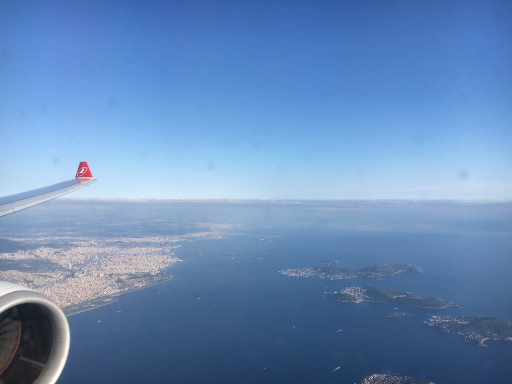 Turkish Airlines Business Class Anflug auf Istanbul